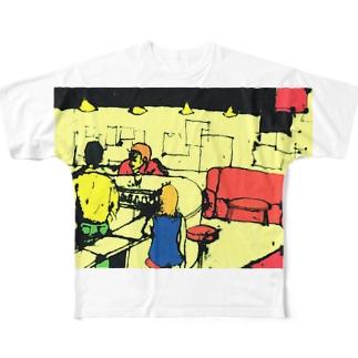barfly  フルグラフィックTシャツ