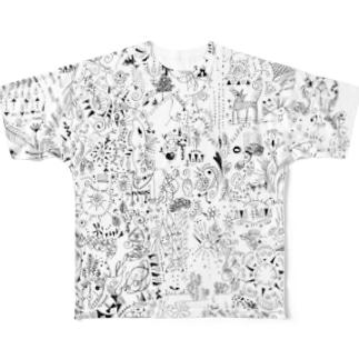 思い巡り フルグラフィックTシャツ