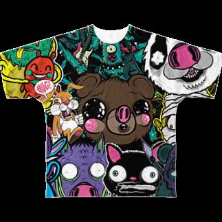 HUGオフォシャルショップのHUG ALL STARS Full graphic T-shirts