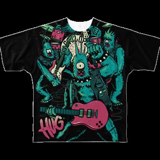 HUGオフォシャルショップのLegendary Monster Band フルグラフィックTシャツ