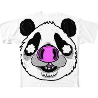 Pnadrew Big Face フルグラフィックTシャツ