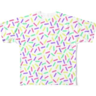 フレーク(ミルク) Full graphic T-shirts
