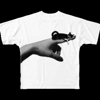 tomotincoのyubi_TEEフルグラフィックTシャツ