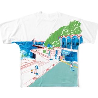 うみ フルグラフィックTシャツ