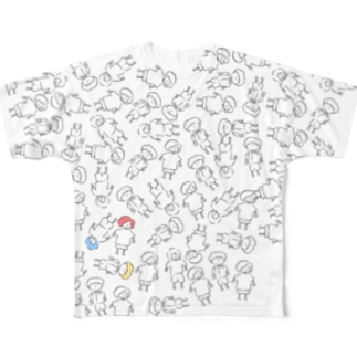 3人組 フルグラフィックTシャツ