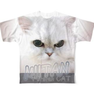 ペルシャ猫Tシャツ フルグラフィックTシャツ