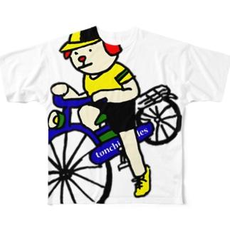 ウクちゃんと自転車 Full graphic T-shirts
