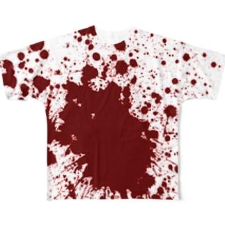 血しぶき Full graphic T-shirts