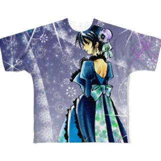 サファイア Full graphic T-shirts