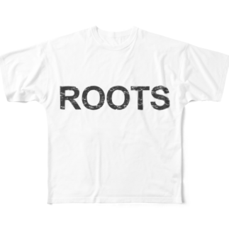 ラーメンROOTSのROOTS公式フルグラフィックTシャツ