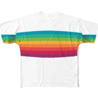 レインボーベルト Full graphic T-shirts