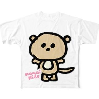 かわうそのミルクのフルグラT フルグラフィックTシャツ
