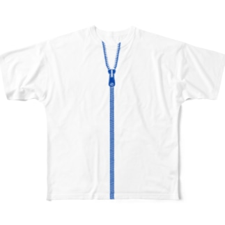 BLUE ZIPPERs  Full graphic T-shirts