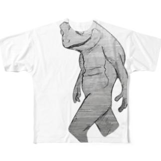 でんじきやめたいカエル Full graphic T-shirts