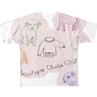 干支(未年) フルグラフィックTシャツ