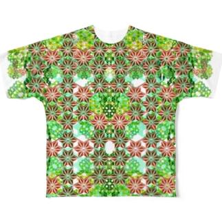 麻 フルグラフィックTシャツ