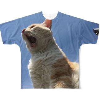 吼える フルグラフィックTシャツ