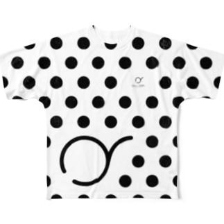 """OKUSORA dot T """"white"""" Full graphic T-shirts"""