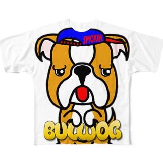 ちんちんブルドッグ Full graphic T-shirts