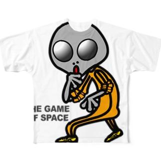 宇宙遊戯 ポスターバージョン Full graphic T-shirts