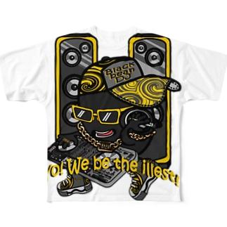 黒豆DJ フルグラフィックTシャツ