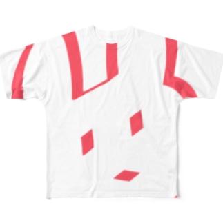 へにょうさぎ Full graphic T-shirts