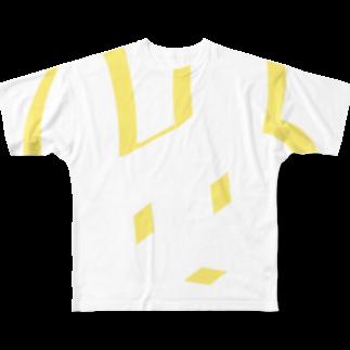 どせいのわっかのへにょうさぎ フルグラフィックTシャツ