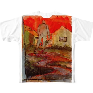 in to the silence  フルグラフィックTシャツ