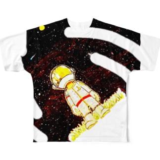 宇宙くん  Full graphic T-shirts