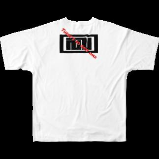 かざまの風間水産カクハチロゴ 文字タイプ6 Full graphic T-shirts