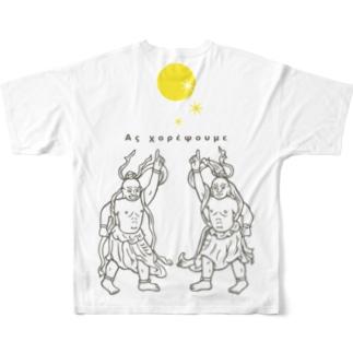Night Fever(gray) Full graphic T-shirts