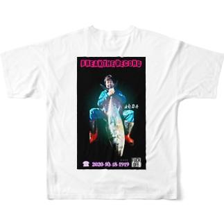 UEDA×HBR Tシャツ②(ホワイト) Full graphic T-shirts