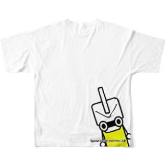 ひょっこりミニロボ君 Full graphic T-shirts
