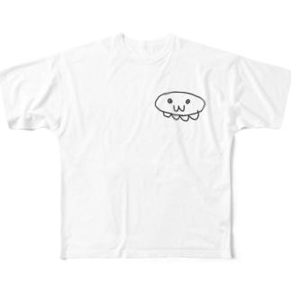 さとるのお店のくたびれクラゲ Full graphic T-shirts