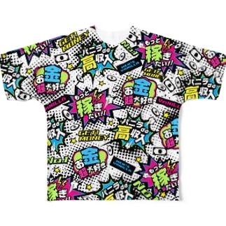 MONEY♥BOMB Full graphic T-shirts