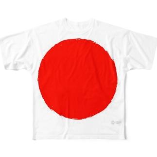 赤玉 Full graphic T-shirts