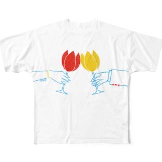 TULIP FESTIVAL フルグラフィックTシャツ
