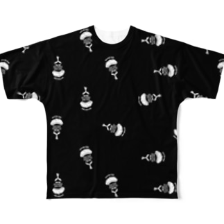 MEN'S BLACK ALL LOGO TEE Full graphic T-shirts