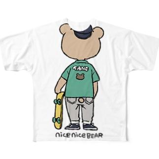 NICEボードくま Full graphic T-shirts