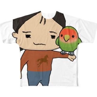 OTJAPONのシュプとヲタッチ Full graphic T-shirts