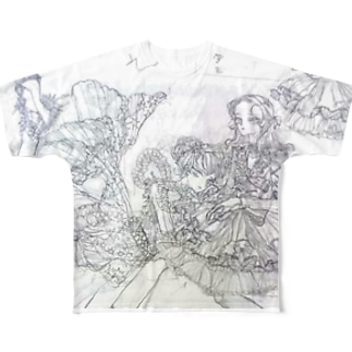 素描 Full graphic T-shirts