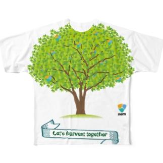 nemハーベストTシャツ フルグラフィックTシャツ