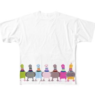 鳩のモモヒキTシャツ Full Graphic T-Shirt