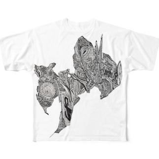 メカ・バスト Full graphic T-shirts