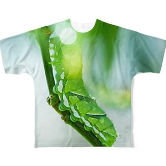 アオムシさん フルグラフィックTシャツ