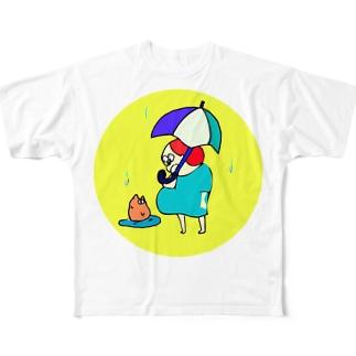 こんなところに猫 Full graphic T-shirts