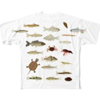 川の仲間Tシャツ Full graphic T-shirts