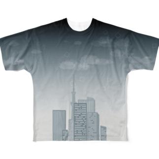 ツミアゲタワー Full graphic T-shirts