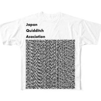 Japan Quidditch Association 公式のJQA Staff お目立ちURL Full graphic T-shirts