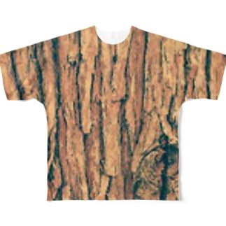 スギ樹皮 Full graphic T-shirts